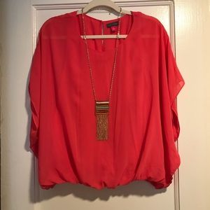 NWOT! Vince Camuto Coral Pink Flowy Blouse SZ S